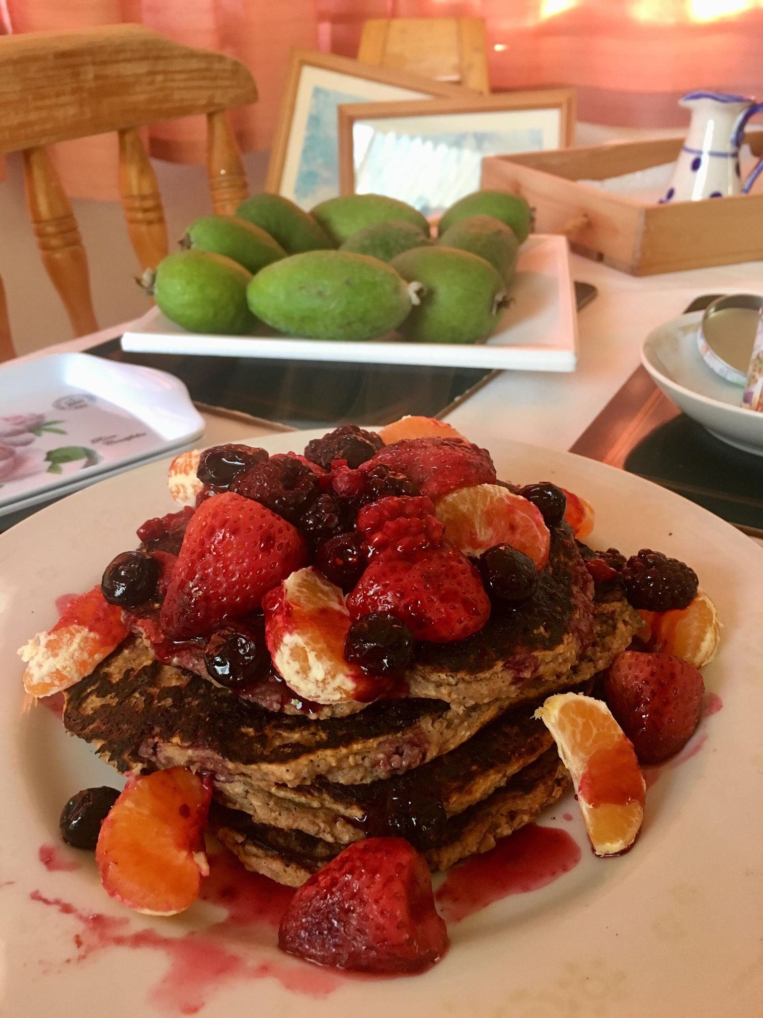 Vegan protein pancakes easy and fast