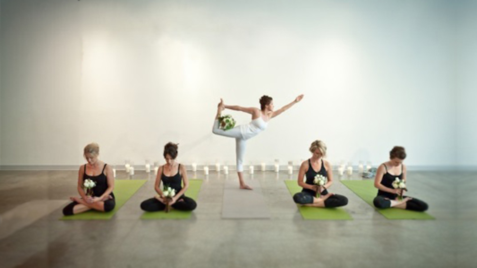 yoga class at your work & hens parties