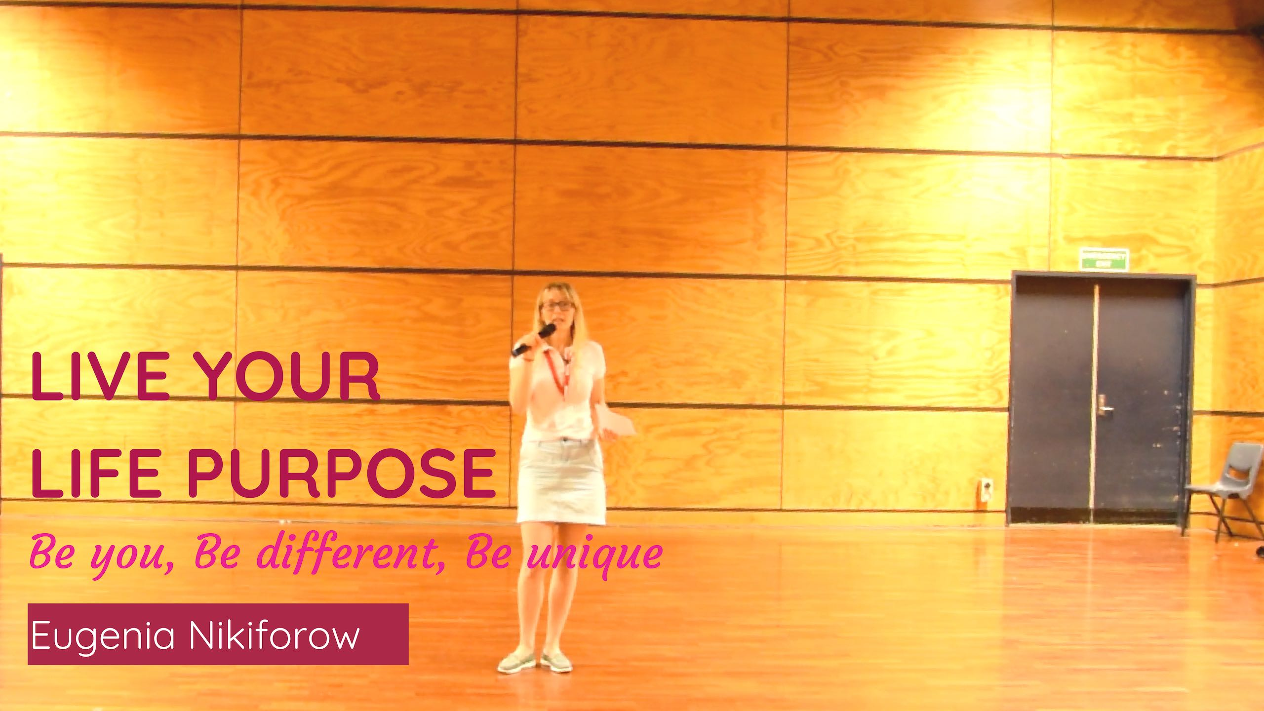 Eugenia Nikiforow speaking about Live purpose