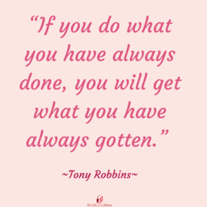 Tony Robbins Quote making change to transforming negative self talk